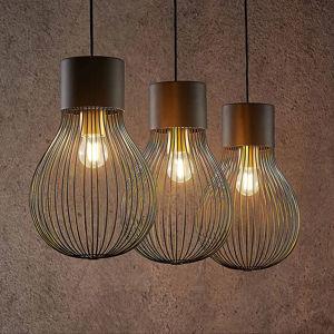 Lindby Lindby Miliano závesná lampa zo železa čierna