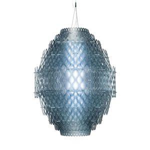 Slamp Charlotte – závesné LED svietidlo modré