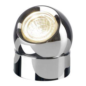 Pochrómovaná stolná LED lampa Tarly