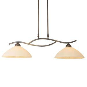 Závesná lampa Capri 2-pl. krém/bronz