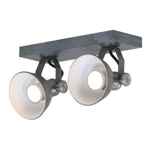 Stropné LED svietidlo Brooklyn 2-plameňové, sivé