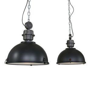 Závesná lampa Bikkel 2-plameňová, čierna