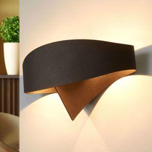 Bronzové dizajnové nástenné svietidlo Scudo