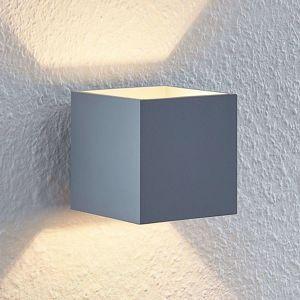 Lindby Mirza nástenné svetlo hliník, hranaté, sivé