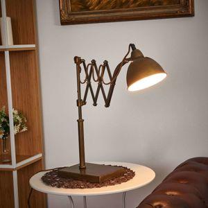 Stolná lampa Norwin s teleskopickým ramenom