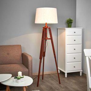 Stojaca lampa Marvin z dreva výška 158cm
