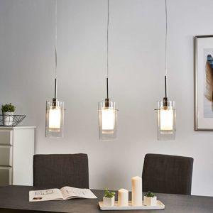 3-plameňová, dekoratívna závesná lampa Duo1