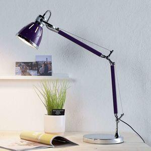 Fialová lampa na písací stôl Jerona
