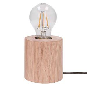Stolná lampa Trongo valec olejovaný kábel antracit