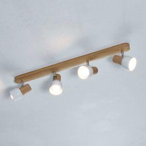 Drevené stropné svietidlo Svantje 4-plameňové
