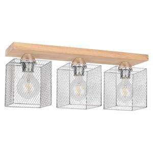Spot-Light Stropné svietidlo Norman Wood 3-pl., olejovaný dub