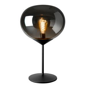 Sompex Stolná lampa Drop, tienidlo dymové sklo