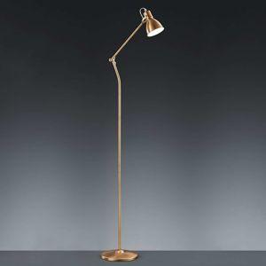 Stojaca lampa Keali výškovo nastaviteľná mosadz