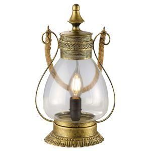 Linda – romantická stolná lampa starožitná mosadz