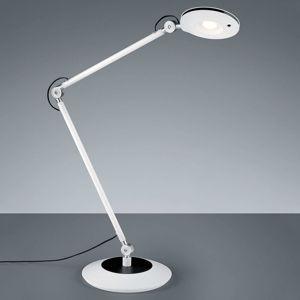Kĺbová stolná LED lampa Roderic v bielej