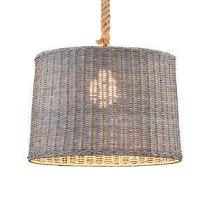 Závesná lampa Rotin, 1-pl.