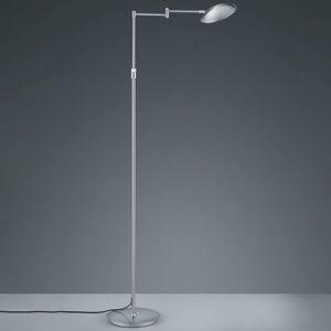 Stojaca LED lampa Calcio nastaviteľná nikel matná