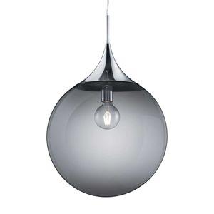 Závesná lampa Midas zo skla, Ø 45 cm, dymová