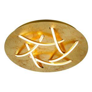 Stropné LED svietidlo Dolphin, zlaté, Ø 45 cm