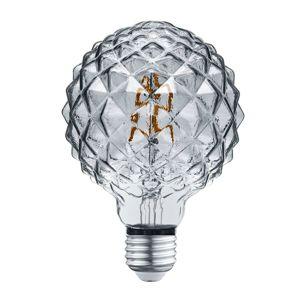 LED Globe žiarovka E27 4W 3000K štruktúra dymová