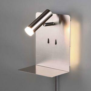 Nástenné LED svetlo odkladací priestor nikel matné