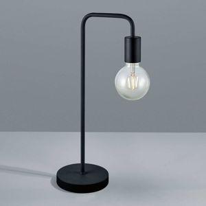 Stolná lampa Diallo bez tienidla čierna matná