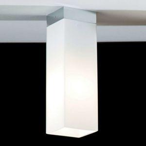 Opálové stropné svietidlo QUADRO BOX kovový okraj