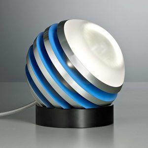 TECNOLUMEN Bulo – stolná LED lampa svetlomodrá