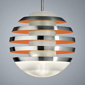 TECNOLUMEN Bulo – LED závesné svietidlo oranžové