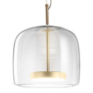Závesná lampa Jube SP 1 P zo skla, číra