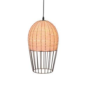 Viokef Závesná lampa Dizzi z dreva a kovu