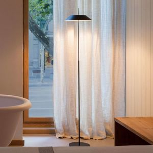 Vibia Mayfair – stojaca LED lampa, grafitovo-sivá