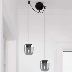 UMAGE Acorn závesná lampa 2-pl. dymová sivá oceľ