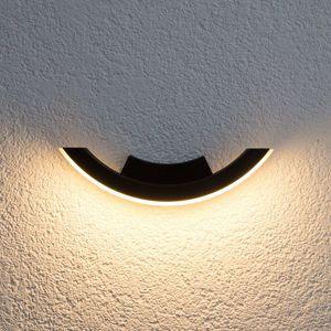 Grafitové vonkajšie nástenné LED svietidlo Half