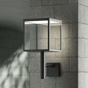 Vonkajšie nástenné LED svietidlo Cube sklenené