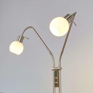 Stojaca LED lampa Elaina 2-pl, matný nikel