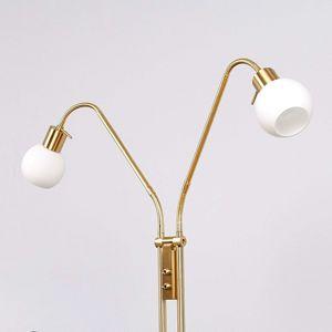 Stojaca LED lampa Elaina 2-pl, mosadz