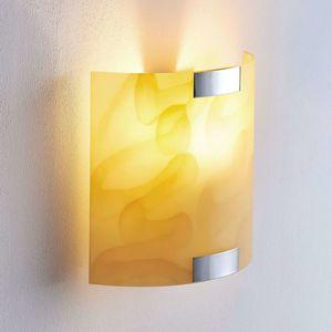 Lindby Nástenné LED svietidlo Quentin jantárovej farby