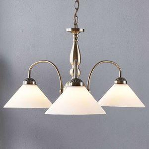 Lindby Sklenená závesná lampa Otis, 3-plameňová