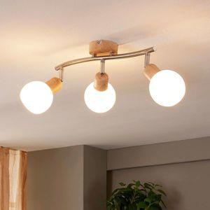 Lindby Stropné LED svietidlo Svenka 3-pl podlhovasté