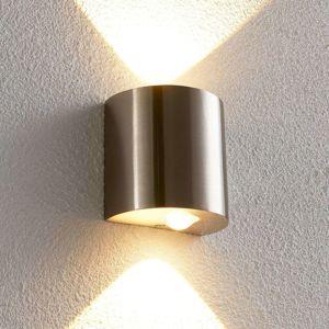 Polkruhové nástenné LED svietidlo Lareen nikel