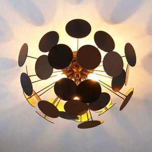 Čierno-zlaté stropné svietidlo Kinan