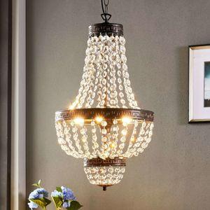 Závesná lampa Jorve s krištáľom