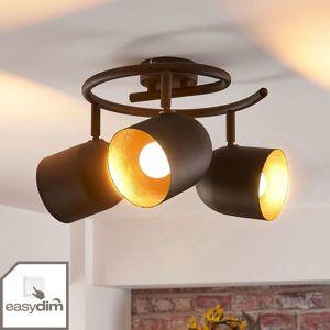 Stropné LED svietidlo Morik, okrúhle, 3-plameňové