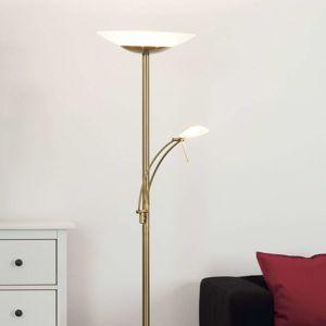 Mosadzná stojaca LED lampa Ilinca stmievateľná