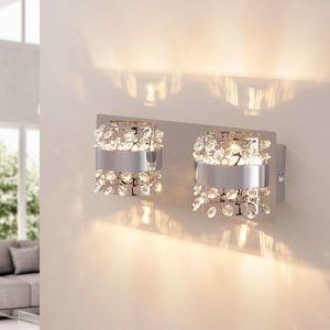 Nástenné LED svetlo Neelie sklenené kamene 2-pl
