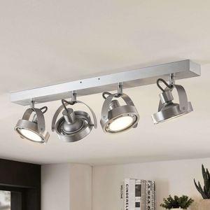 LED svetlo Munin stmievateľné hliník 4-plameňové