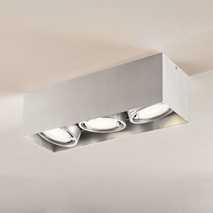 LED Downlight Rosalie hranaté 3-pl. hliník