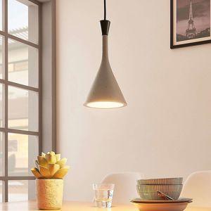 Závesná lampa Flynn, sivý betón, 1 svetlo, Ø 16 cm