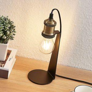 Vintage stolová lampa Aurella, staromosadzná